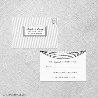Confetti Wedding All In One Detachable Response Card