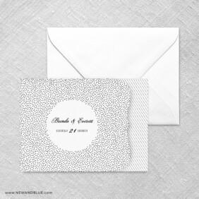 Confetti Wedding All In One Invitation Set