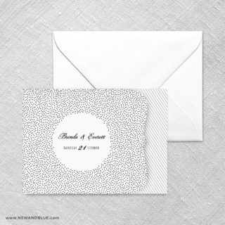 Confetti Wedding All In One Invitation Set