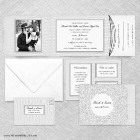 Confetti Wedding All In One Wedding Invitation Suite
