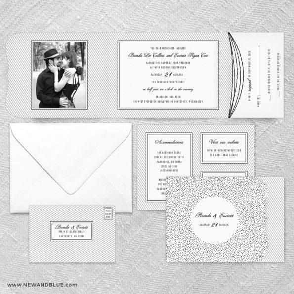 Confetti Wedding All In One Wedding Invitation Suite