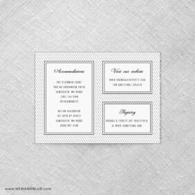 Confetti Wedding All Inclusive Invitation Back
