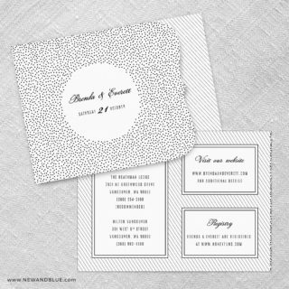 Confetti Wedding Allinone Wedding Invitation Set