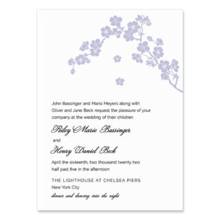 Corner Blossom Wedding Invitation