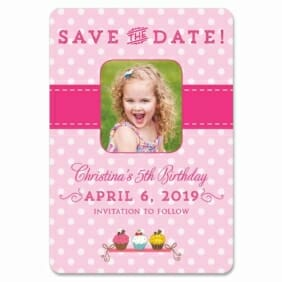 Cupcake Delight 1 Save The Date Magnets