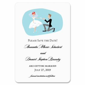 Custom Bride And Groom 1 Save The Date Magnets1
