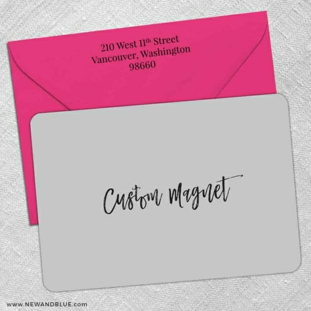 Custom Classic Size Save The Date With Optional Color Envelope