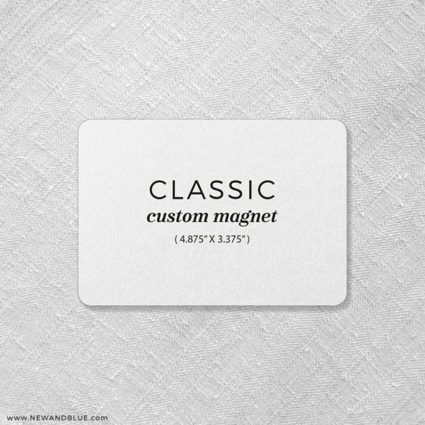 Custom Magnet Classic Landscape Save The Date Magnet