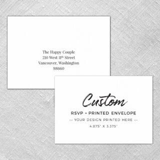 Custom Rsvp Card With Envelope
