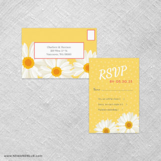 Daisy All In One Detachable Portrait Response Card