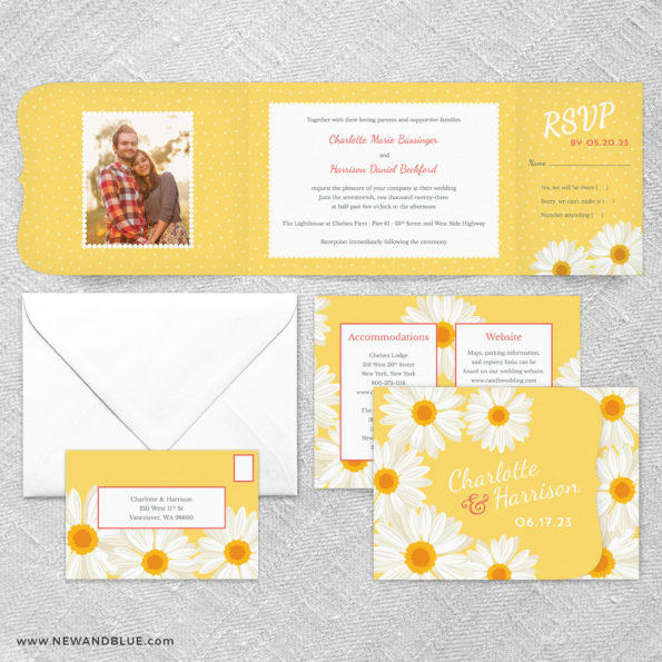 Daisy All In One Wedding Invitation Suite
