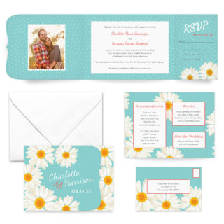Daisy All Inclusive Wedding Invitation