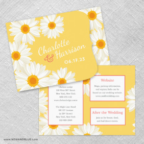 Daisy Allinone Wedding Invitation Set