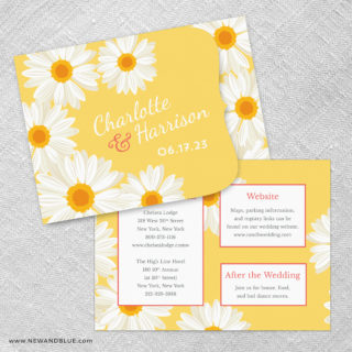 Daisy Allinone Wedding Invitation Set