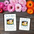 Delightful 2 Save The Date Magnet Classic And Petite Size