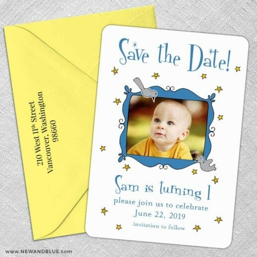 Delightful 5 Save The Date With Optional Color Envelope