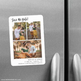 Delightful Gallery 2 Save The Date Refrigerator Magnet