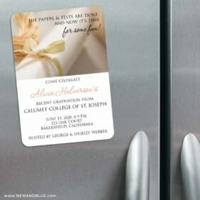Diploma 3 Refrigerator Save The Date Magnets