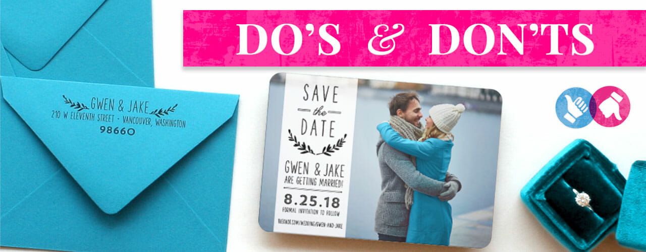 Dos And Donts Save The Dates