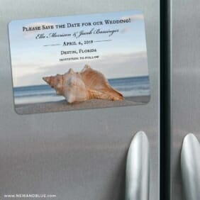Down By The Sea 3 Refrigerator Save The Date Magnets