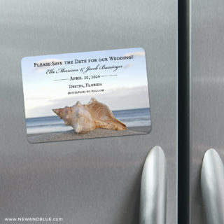 Down By The Sea 4 Refrigerator Save The Date Magnets