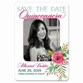 Dulce Quinceanera 1 Save The Date Magnets