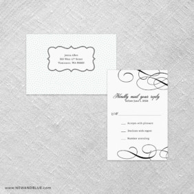 Elegant All In One Detachable Portrait Response Card