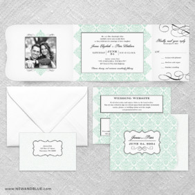 Elegant All In One Wedding Invitation Suite