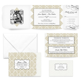 Elegant All Inclusive Wedding Invitation