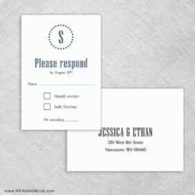 Ella Rsvp Card And Envelope