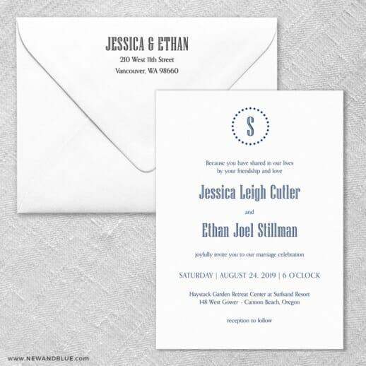 Ella Wedding Invitation With Envelope