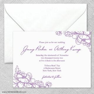 Eloise 2 Invitation And Envelope