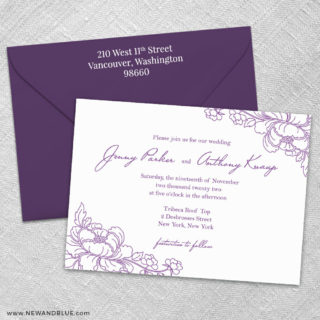 Eloise 3 Invitation And Color Envelope