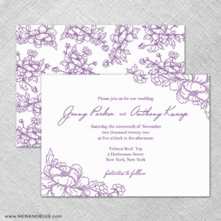 Eloise 4 Invitation Shown With Back Printing