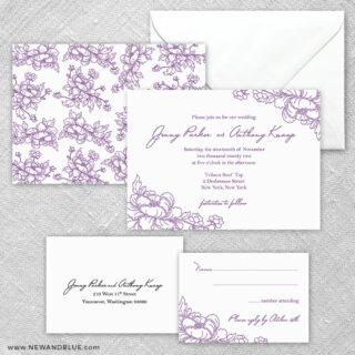 Eloise 5 Wedding Invitation And Rsvp Card