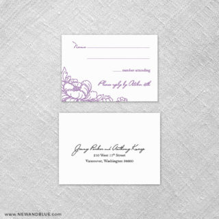 Eloise 6 Reception Card And Rsvp Card
