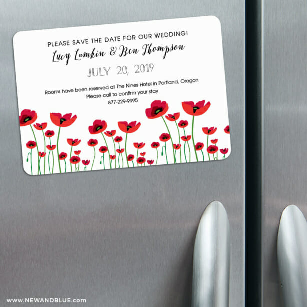 Emerald City 3 Refrigerator Save The Date Magnets1