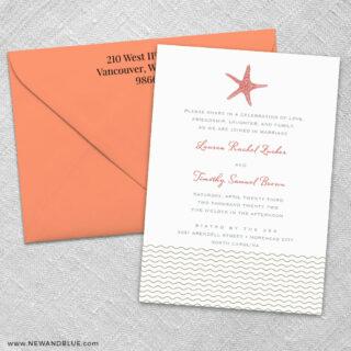 Emerald Isle 3 Invitation And Color Envelope
