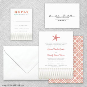 Emerald Isle 5 Wedding Invitation And Rsvp Card