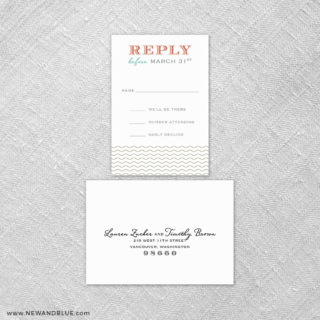 Emerald Isle 6 Reception Card And Rsvp Card