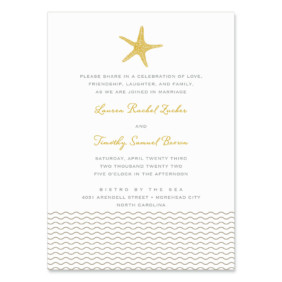 Emerald Isle Wedding Invitation