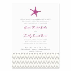 Emerald Isle Wedding Invitation