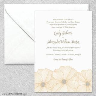 Emily 2 Invitation And Envelope