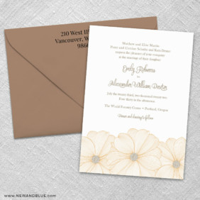 Emily 3 Invitation And Color Envelope