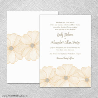 Emily 4 Invitation Shown With Back Printing