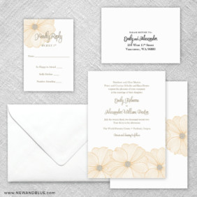 Emily 5 Wedding Invitation And Rsvp Card