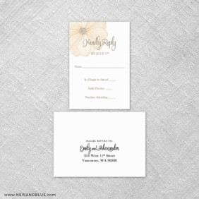 Emily 6 Reception Card And Rsvp Card