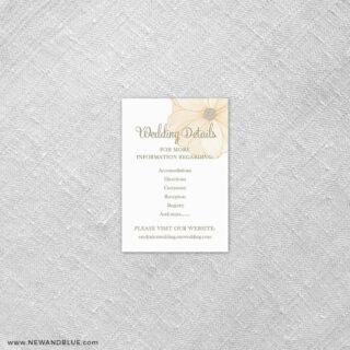 Emily 7 Reception Card