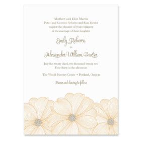 Emily Invitation Shown In Color Orange