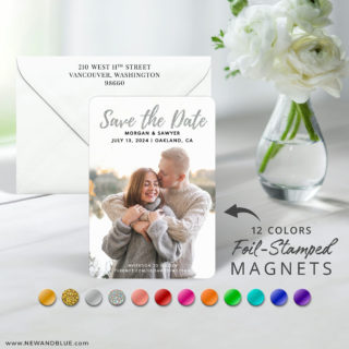 Endless Love 7 Foil Wedding Save The Date Magnet